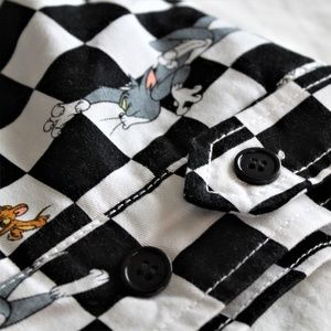 6d18142d2 Tom & Jerry Graphic Checkered Jacket, Puffy Lining NWT